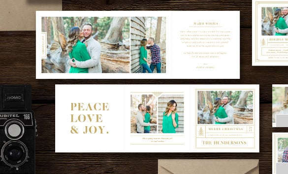 beautiful holiday card trifold template