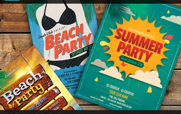 new summer party flyer template