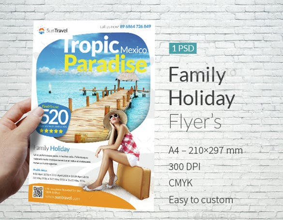 Family Holiday Flyer Template Download