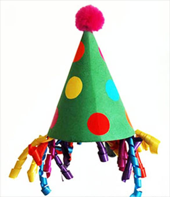 Children Happy Birthday Party Hat Template