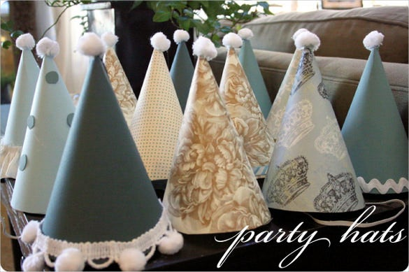 beautiful birthday party hats template