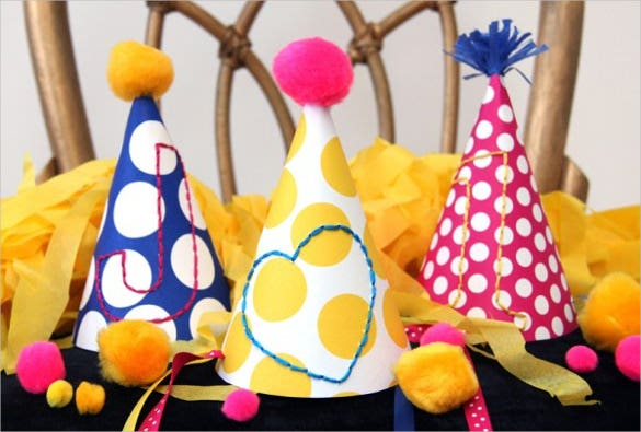 birtyday embroidered party hat template