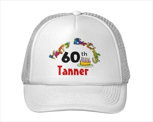 birthday trucker hat template