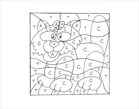 colouring cat template download