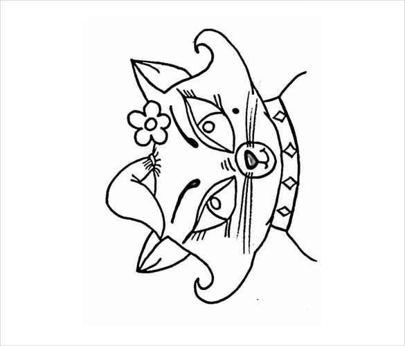 Cat Drawings Template 13 Free