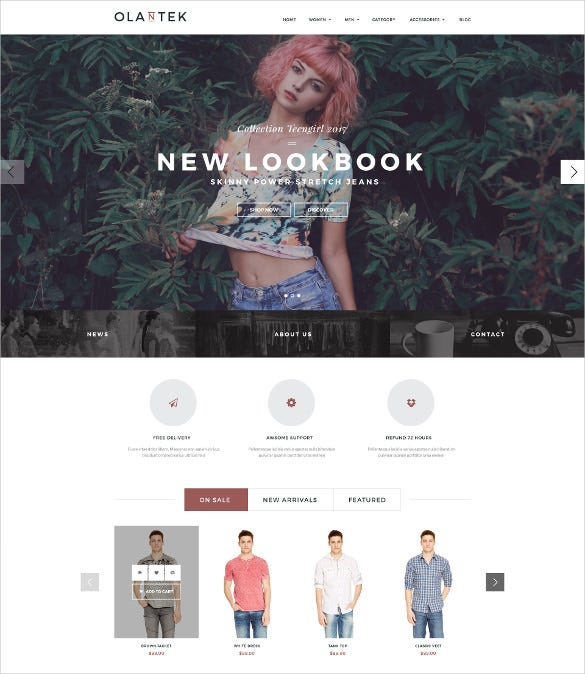 responsive botique ecommerce prestashop website theme