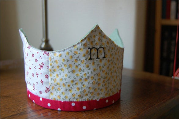 birthday crown pattern template