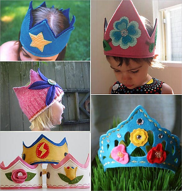 kids handmade birthday crown template
