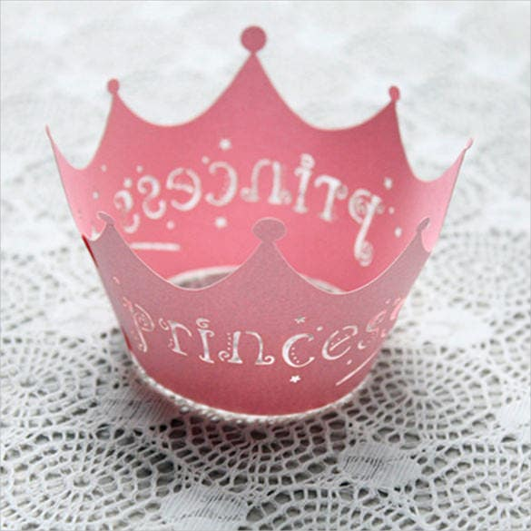 wrappers birthday party crown template