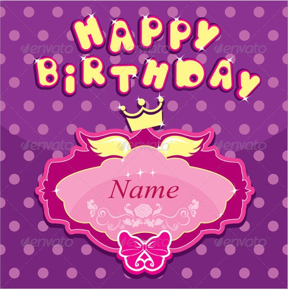 happy birthday invitation crown template