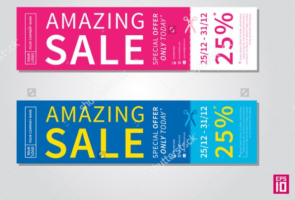 amazing sale tear off flyer template