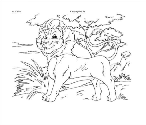 printable pdf of lion free download