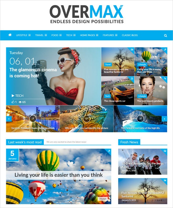 highly customizable wordpress scrolling magazine website theme