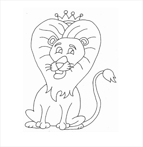 king lion drawing template