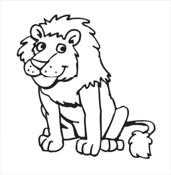 Download Animal Coloring Book Lion Drawing Template U2013 15 Free PDF Documents