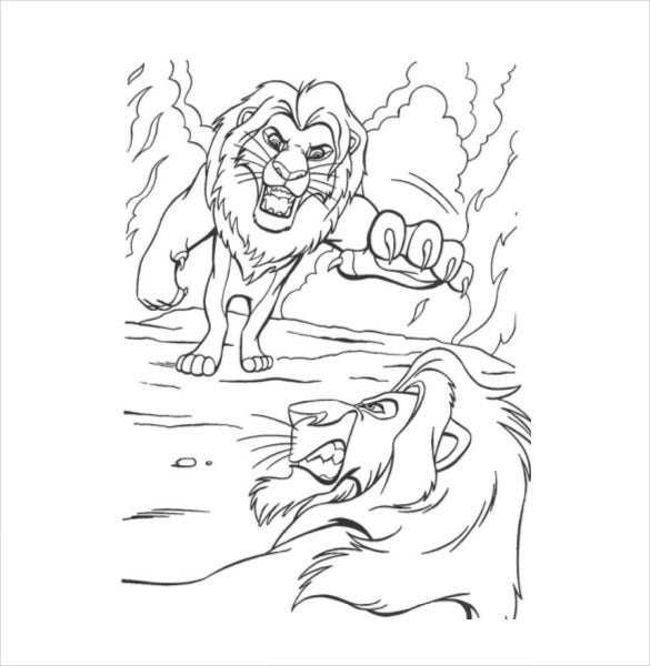 Lion Drawing Template 15 Free Pdf Documents Download