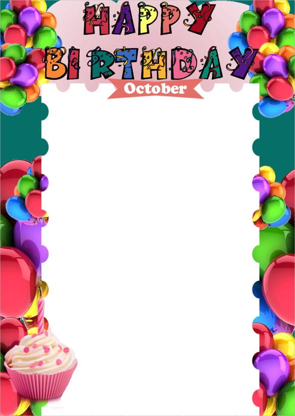 colorful birthday list template