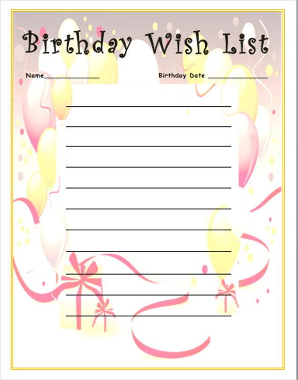 Виш лист подарков на день рождения пример 2