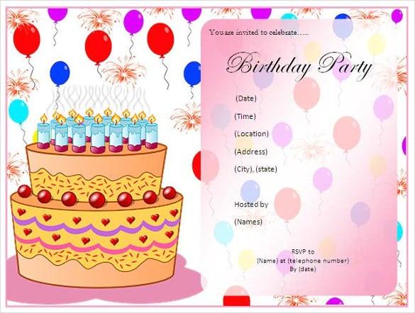 birthday party checklist template