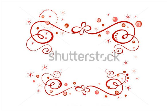 beautiful red holiday border template1
