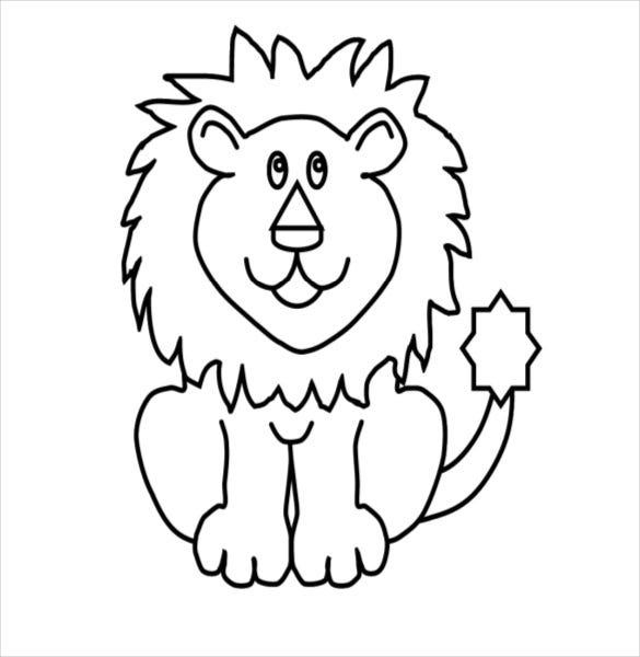 cartoon lion drawing download