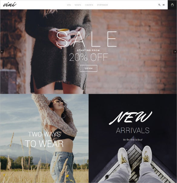 fashion shop magento website theme