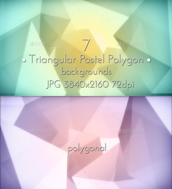 set of polygon pastel background template