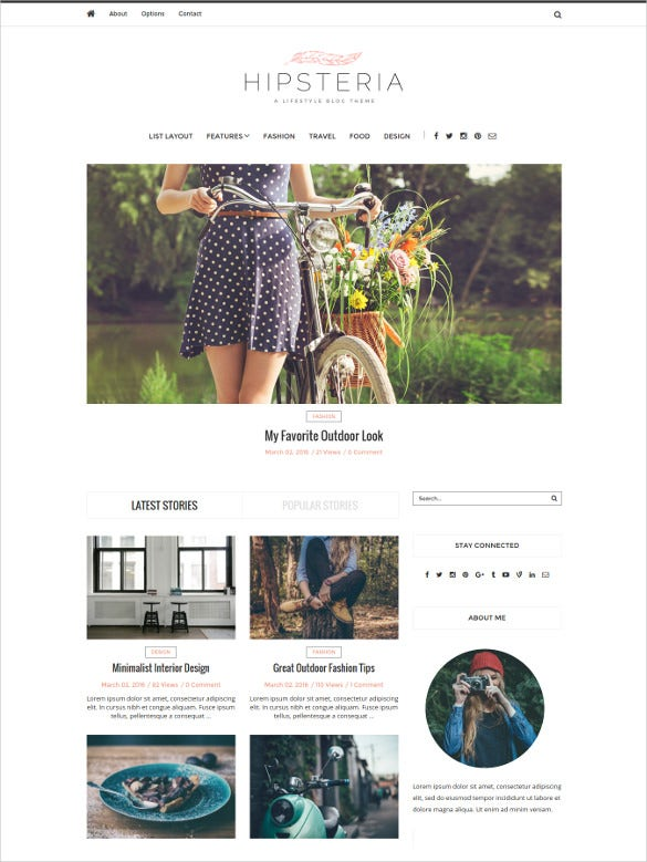 fashion lifestyle wordpress blog website theme