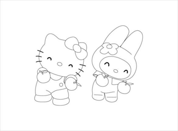hello kitty dancer colouring pages pdf free download1
