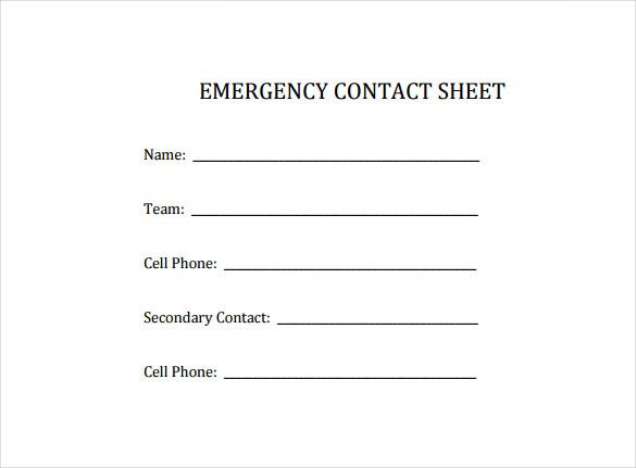 Columbusexpress.com/ The Emergency Contact Sheet Template Is Specially  Designed For Sharing Details Of Emergency Contact Person To Ensure That The  ...  Contact Details Template