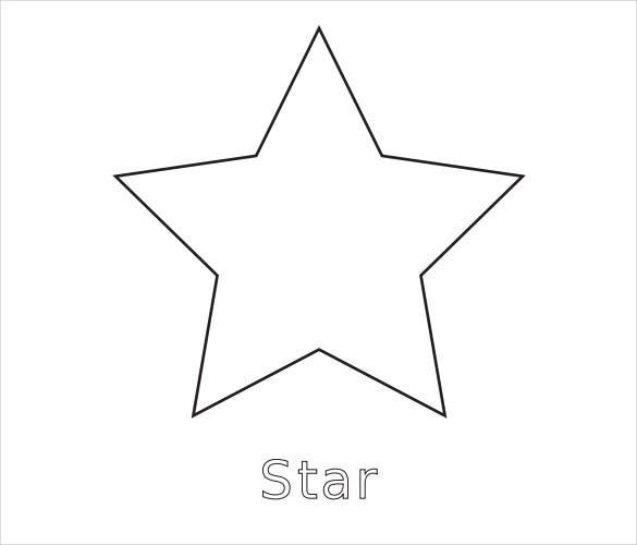 simple star pdf template download