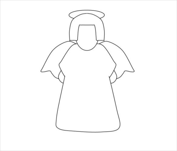simple angel drawing free download