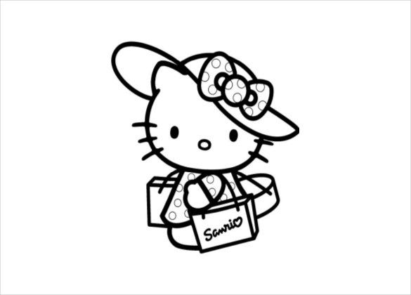 cute kitty coloring page pdf free download