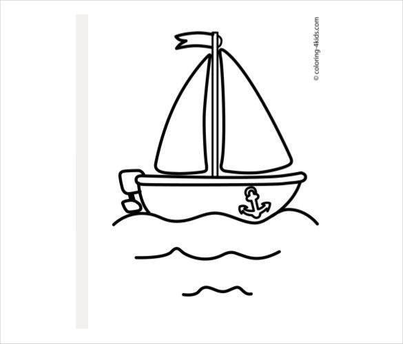 simple boat diagram free downlod