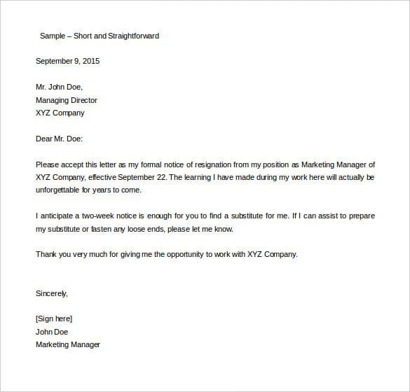 forwarding letter