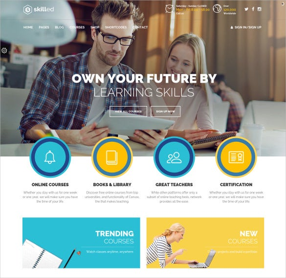 school education courses wordpress websitetheme