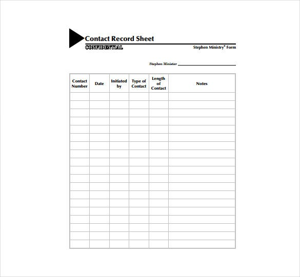 Contact Sheet Template   Free Excel Documents Download  Free