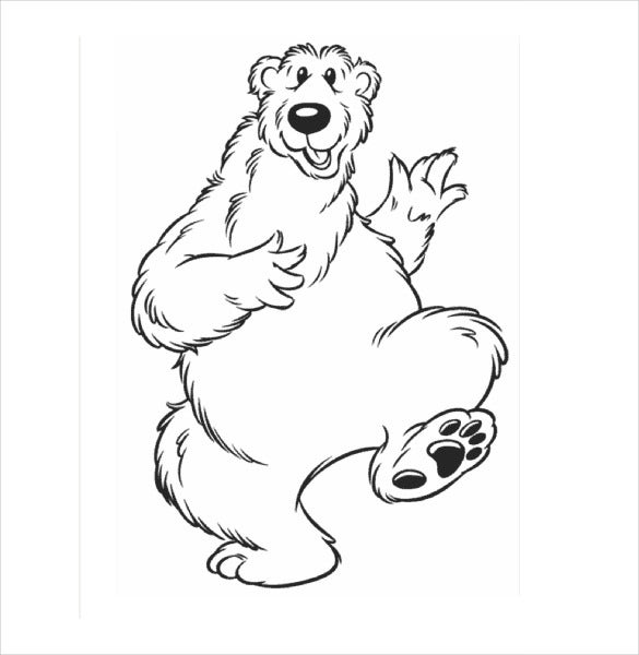 dancing bear and simple free pdf template download