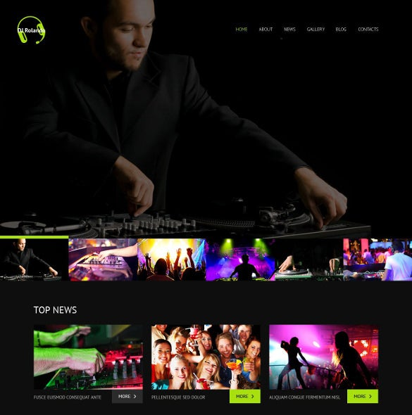 premium dj responsive wordpress website theme