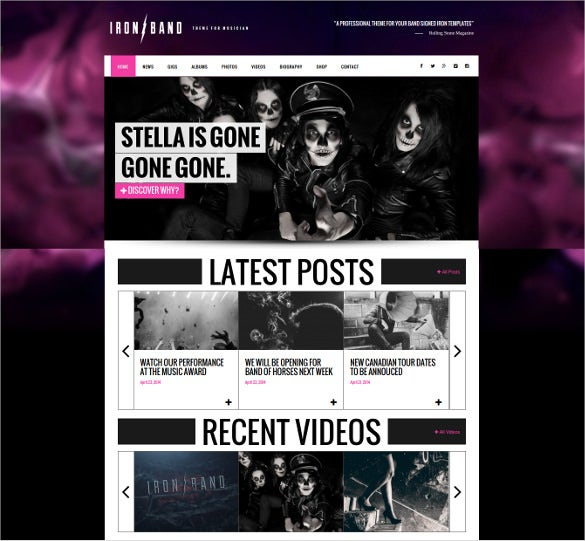 music band dj wordpress website theme