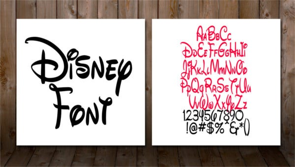 featured image disney font templates