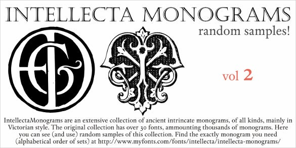intellecta monograms random two font download