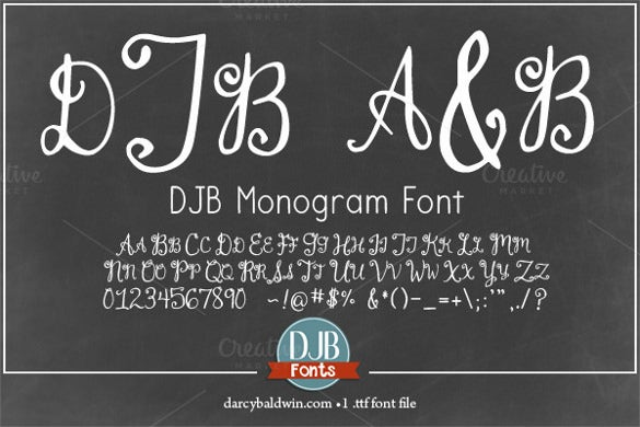 djb monogram font download