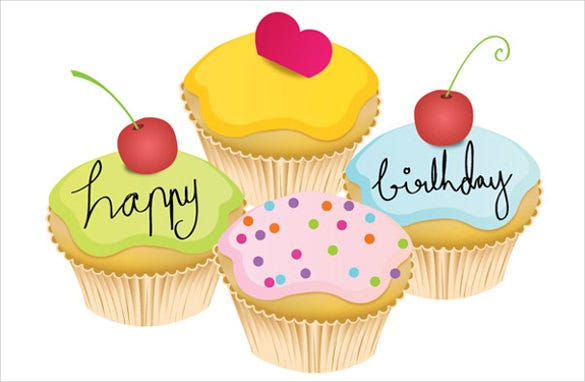 small birthday cake vector template