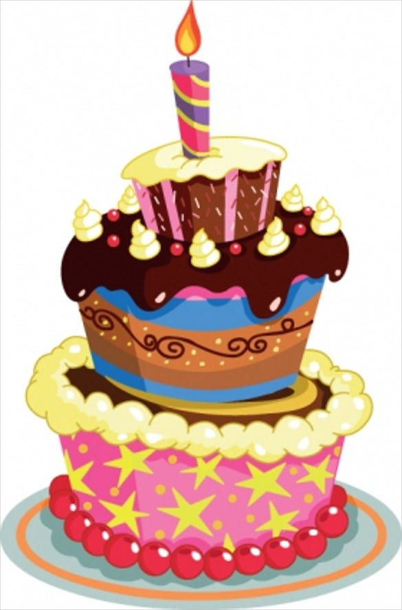birthday cake vector template