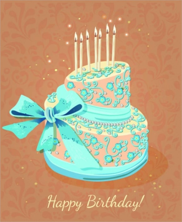 birthday cake background template