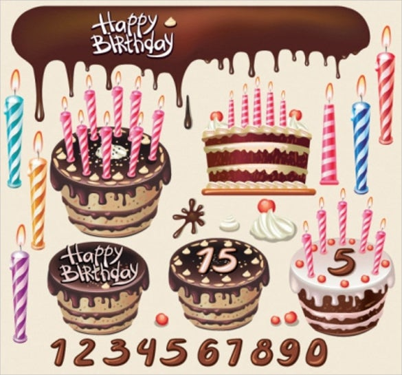 beautiful birthday cake template