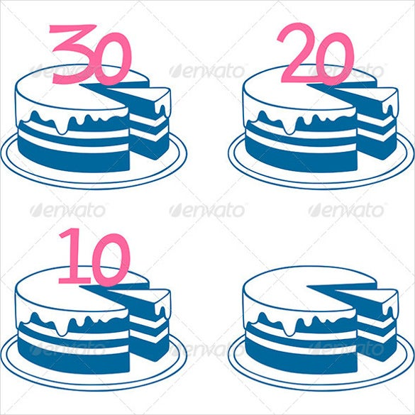 birthday cake set template