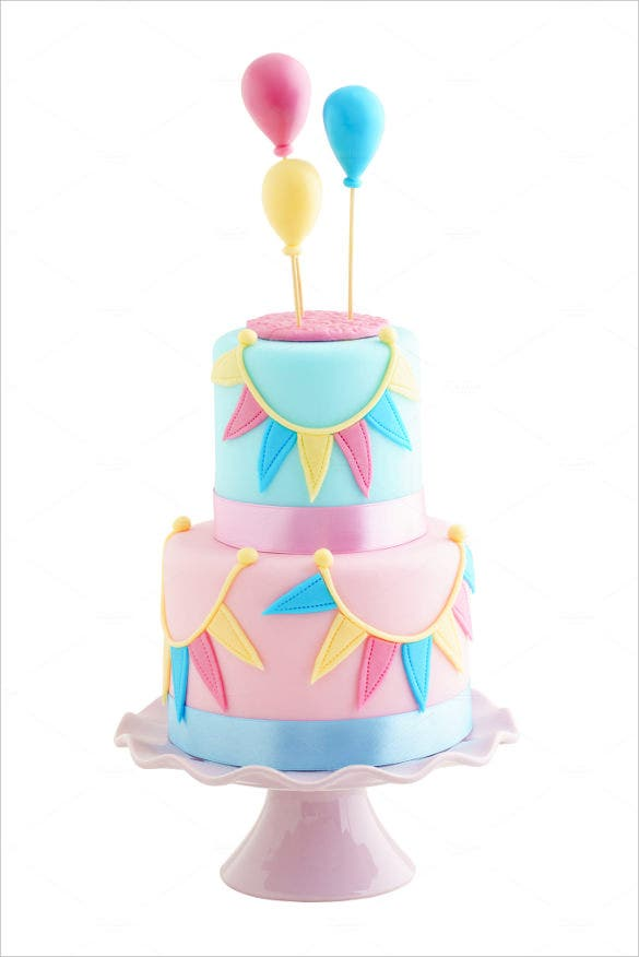 elegant birthday cake template