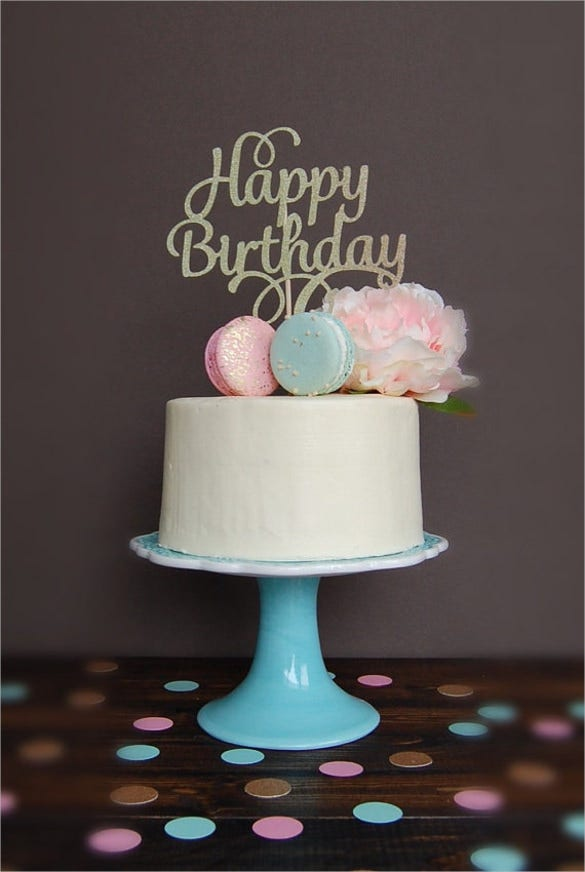 Decorative Birthday Cake Template
